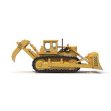 Heavy duty bulldozer isolated on white 3D Illustration Royalty Free Stock Photos