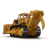 Heavy duty bulldozer isolated on white 3D Illustration. Heavy duty bulldozer isolated on white background 3D Illustration Stock Images