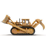 Heavy duty bulldozer isolated on white 3D Illustration. Heavy duty bulldozer isolated on white background 3D Illustration Royalty Free Stock Photos