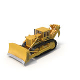 Heavy duty bulldozer isolated on white 3D Illustration. Heavy duty bulldozer isolated on white background 3D Illustration Royalty Free Stock Image
