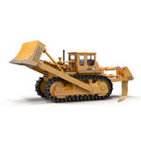 Heavy duty bulldozer isolated on white 3D Illustration. Heavy duty bulldozer isolated on white background 3D Illustration Royalty Free Stock Photo