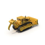 Heavy duty bulldozer isolated on white 3D Illustration Stock Images