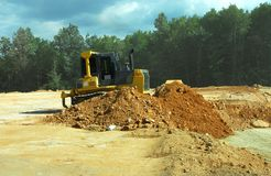 Heavy duty bulldozer in work Royalty Free Stock Photos