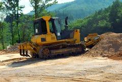 Heavy duty bulldozer in work Stock Images