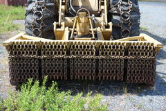 A heavy-duty bush cutting vehicle Stock Photo