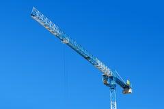 Heavy duty construction crane. Against a blue sky Stock Photo