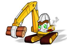 Heavy duty construction equipment. Backhoe on heavy duty construction equipment Royalty Free Stock Images
