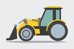Heavy duty construction equipment, Loader, Bulldozer stock illustration