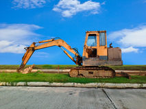 Heavy Duty Construction Equipment. Parked at Worksite Stock Photos