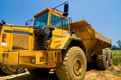 Heavy duty construction truck royalty free stock images