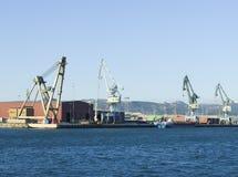 Heavy duty crane. Several heavy duty crane at port Royalty Free Stock Images