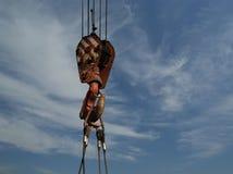 Heavy duty crane hook Stock Photography