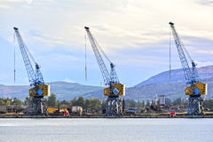 Heavy duty cranes Royalty Free Stock Photos