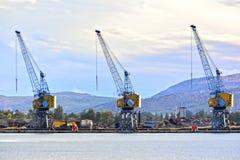 Heavy duty cranes Royalty Free Stock Photos