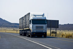 Heavy Duty, Cross Country, Long Haul Truck Stock Photo