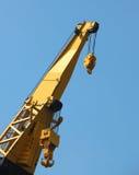 Heavy duty dock crane. Closeup of Heavy duty dock crane boom Stock Photo