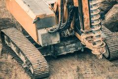 Heavy Duty Drilling Machinery. Heavy Duty Construction Drilling Machinery. Construction Site Machines Stock Photo