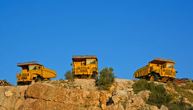 Heavy duty dump trucks Royalty Free Stock Photos