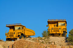 Heavy duty dump trucks Royalty Free Stock Image