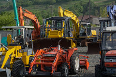 Heavy duty equipment of different types Royalty Free Stock Photography