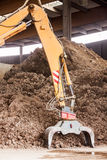 Heavy duty excavator doing earth moving Stock Images