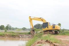 Heavy duty excavator stock photos