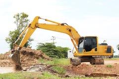 Heavy duty excavator stock image