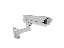 Heavy duty exterior surveillance camera side view Stock Images