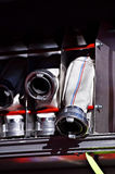 Heavy duty firefighter hoses Royalty Free Stock Images