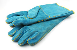 Heavy-duty gloves. To hard works Royalty Free Stock Images