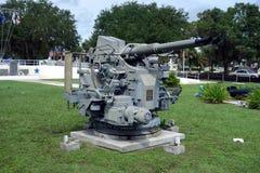 Heavy duty guns on display Royalty Free Stock Photography
