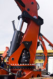 Heavy Duty Hydraulic Lifter. As found on various models of heavy duty cranes Stock Image