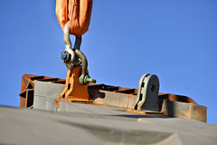 Heavy duty industrial chain in construction industry Stock Photos