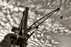 Heavy Duty Industrial Crane Stock Image