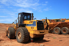 Heavy duty machinery. Heavy duty truck and machinery Stock Photography