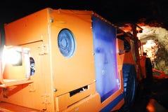 Heavy duty mine machine working Stock Images