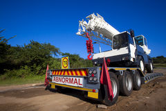 Heavy Vehicle Crane Trailer Stock Photo