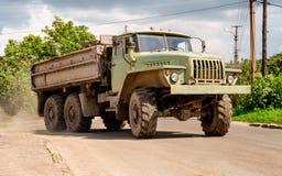 Heavy duty old military truck Royalty Free Stock Photos