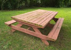 Heavy Duty Picnic Table. Heavy duty, oversized wooden picnic table in Rose Haven, Maryland USA stock image