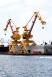 Heavy duty port crane royalty free stock image