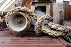 Heavy Duty Rope and Winch Royalty Free Stock Photography