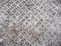 Heavy duty rusty metal background with non slip repetitive patte Stock Photos