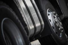 Semi Truck Wheels Closeup Royalty Free Stock Photos
