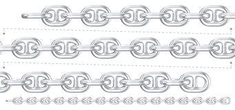 Heavy duty silver chain repeatable Royalty Free Stock Photography