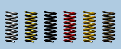 Heavy Duty Springs vector illustration