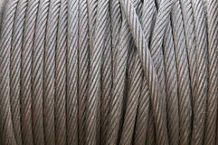 Heavy duty steel wire cable Stock Photography