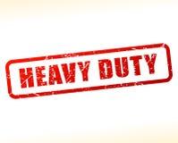 Heavy duty text buffered. Illustration of heavy duty text buffered on white background Stock Photos