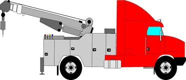 Heavy duty tow truck Royalty Free Stock Image