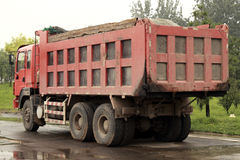 Heavy-duty truck. A heavy-duty truck parked on the road Royalty Free Stock Photo