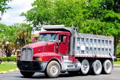 Heavy duty truck in parking lot Royalty Free Stock Photography